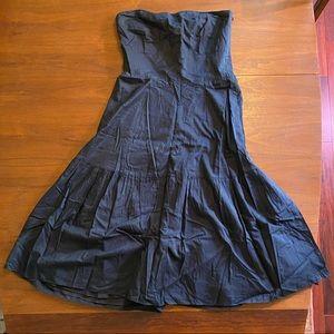 J Crew Strapless Dress Silk & Cotton
